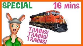 * TRAINS! TRAINS! TRAINS! * | Train Playlist For Kids | Things That Go TV!