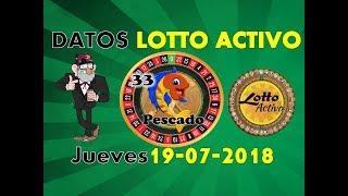 Lotto Activo Datos Fijos 19/07/2018   Tio Ruletero
