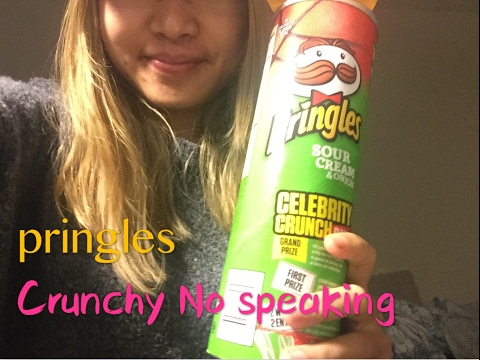 ASMR pringles crunchy chips
