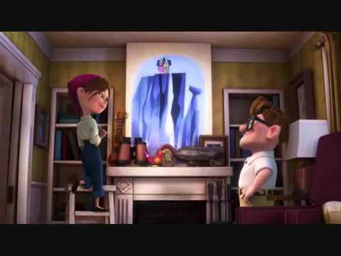 Disney Pixar Cars Mural Wallpaper Love Story Of Carl Amp Ellie In Disney Pixar S Up 2009