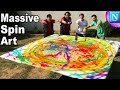 Making MASSIVE Spin Art Paintings  | Nickipedia