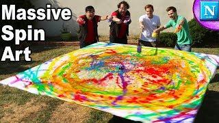 Making MASSIVE Spin Art Paintings  | Nickipedia