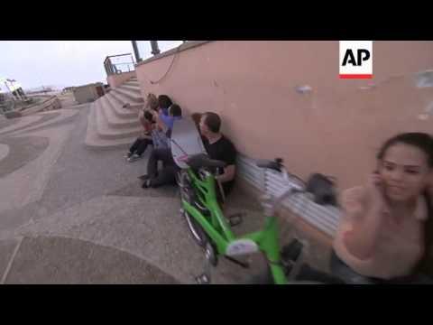 Air raid sirens go off in Tel Aviv as Palestinian rockets target city for third day