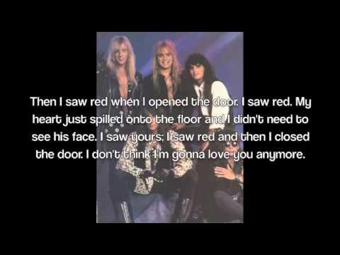 I Saw Red by Warrant Lyrics
