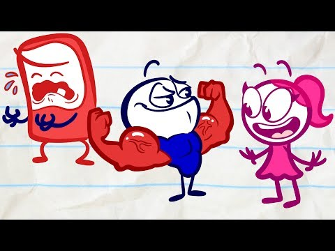 Extreme Feats of Strength With Pencilmate   Animated Cartoons Characters   Animated Short Films