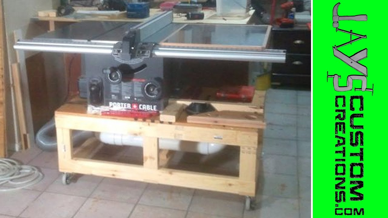 Building A Table Saw Base Video 1 075 Youtube