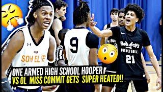 AAU Game Got SUPER HEATED! One Armed HS Hooper vs Ole' Miss Commit!! Trash Talk + CRAZY Highlights!