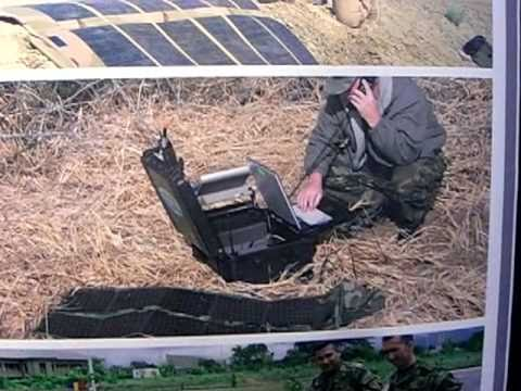 Foldable Solar Charger (62 Watts) for Li-Ion Military Communication Batteries - Milcom 2010 -1