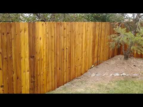 Staining Cedar Fence  Cabot's Australian Timber Oil Natural