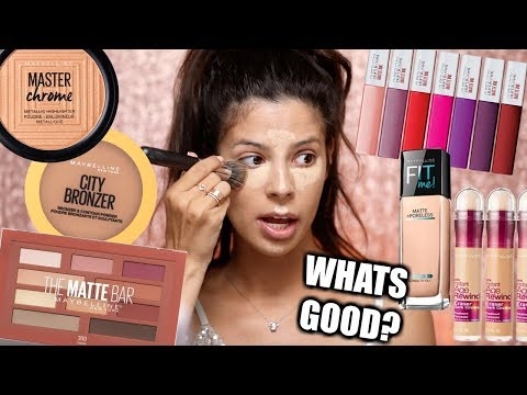 I USE A FULL FACE OF MAYBELLINE MAKEUP thumbnail