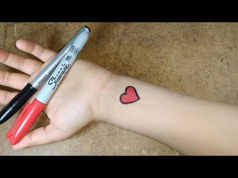 Como Fazer Tatuagem Falsa - Simples