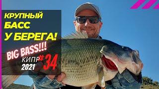 Вот это КЛЕВ Крупный БАСС под берегом Рыбалка на Кипре Часть 34 Сезон 2021