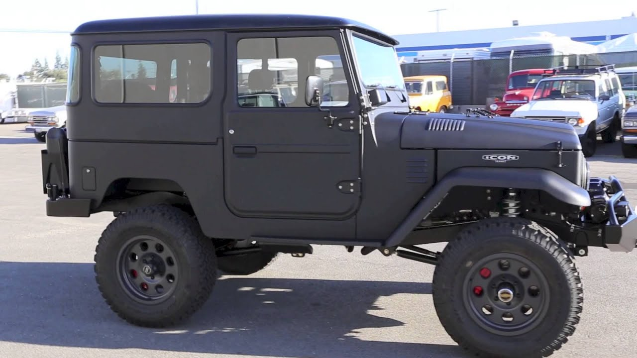 Icon Fj40 Volcanic Black Hard Top Youtube