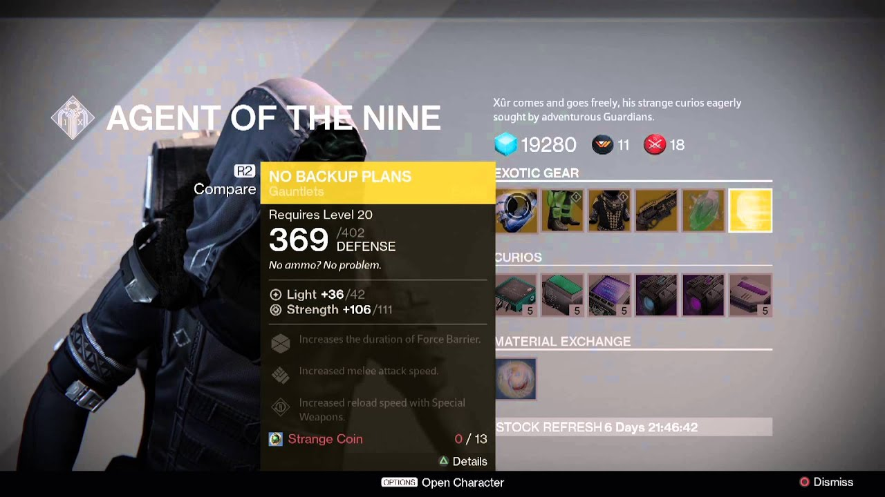 Destiny: Xur Location and Exotics for Week 37