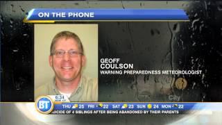 Warning preparedness meteorologist on