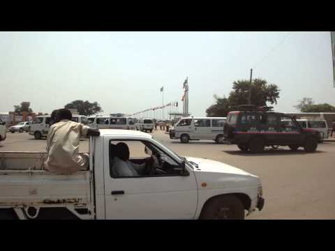 Busy roundabout in Juba South Sudan
