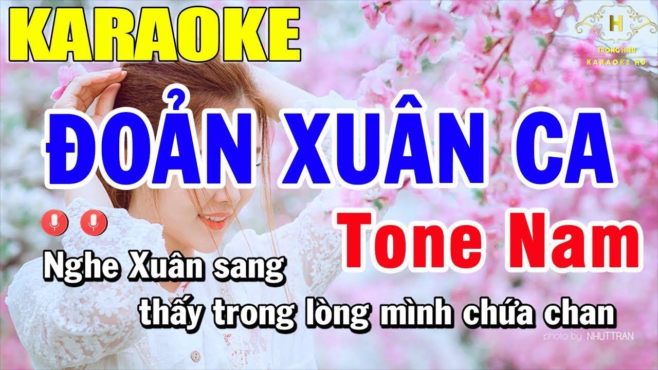 karaoke Đoản Xuân Ca Tone Nam Nhạc Sống   Trọng Hiếu