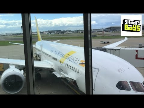 Shooty Boys: Jim flies to Brunei using Business Class (Royal Brunei)
