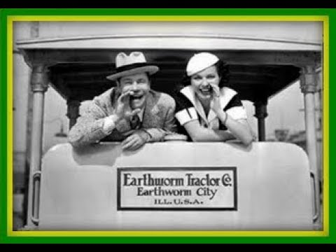 """Comedy-Romance! """"Earthworm Tractors"""" 1936 Classic Movie Film Full Length Old Black and White"""