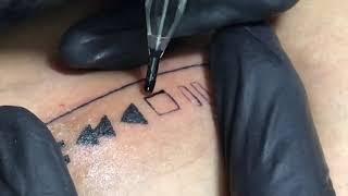 Minimalist Music Icon Close Up Tattoo Timelapse screenshot 4