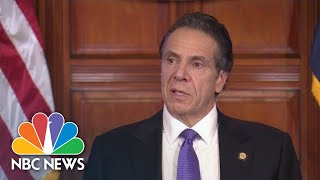 New York Governor Cuomo makes announcement amid COVID-19 pandemic