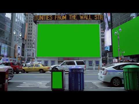 #New #York #billboard #Green #Screen|Chroma Key vfx graphics