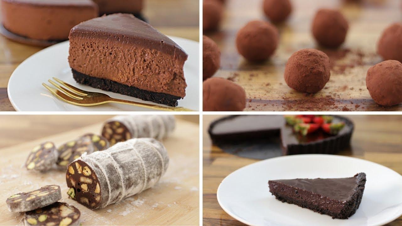 5 Easy No Bake Chocolate Dessert Recipes Youtube