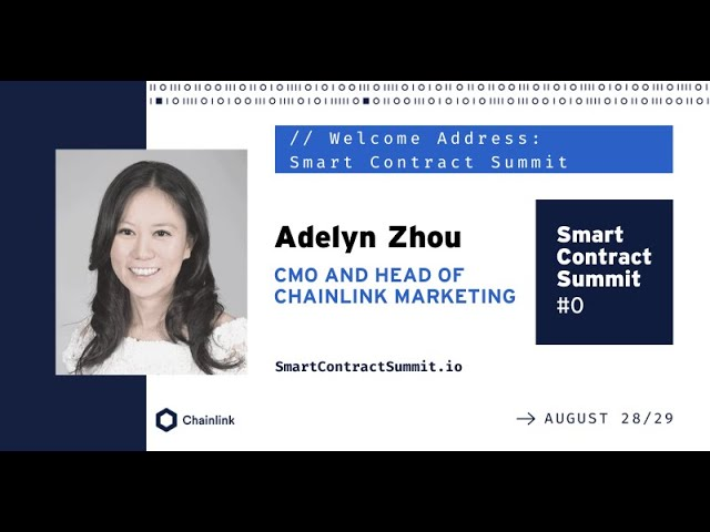SmartCon 2020 Welcome Address by Adelyn Zhou