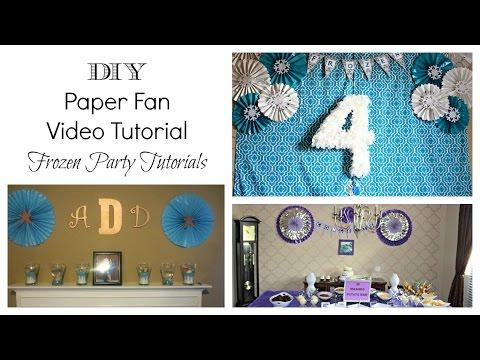 DIY Paper Fan  Frozen Party Tutorial