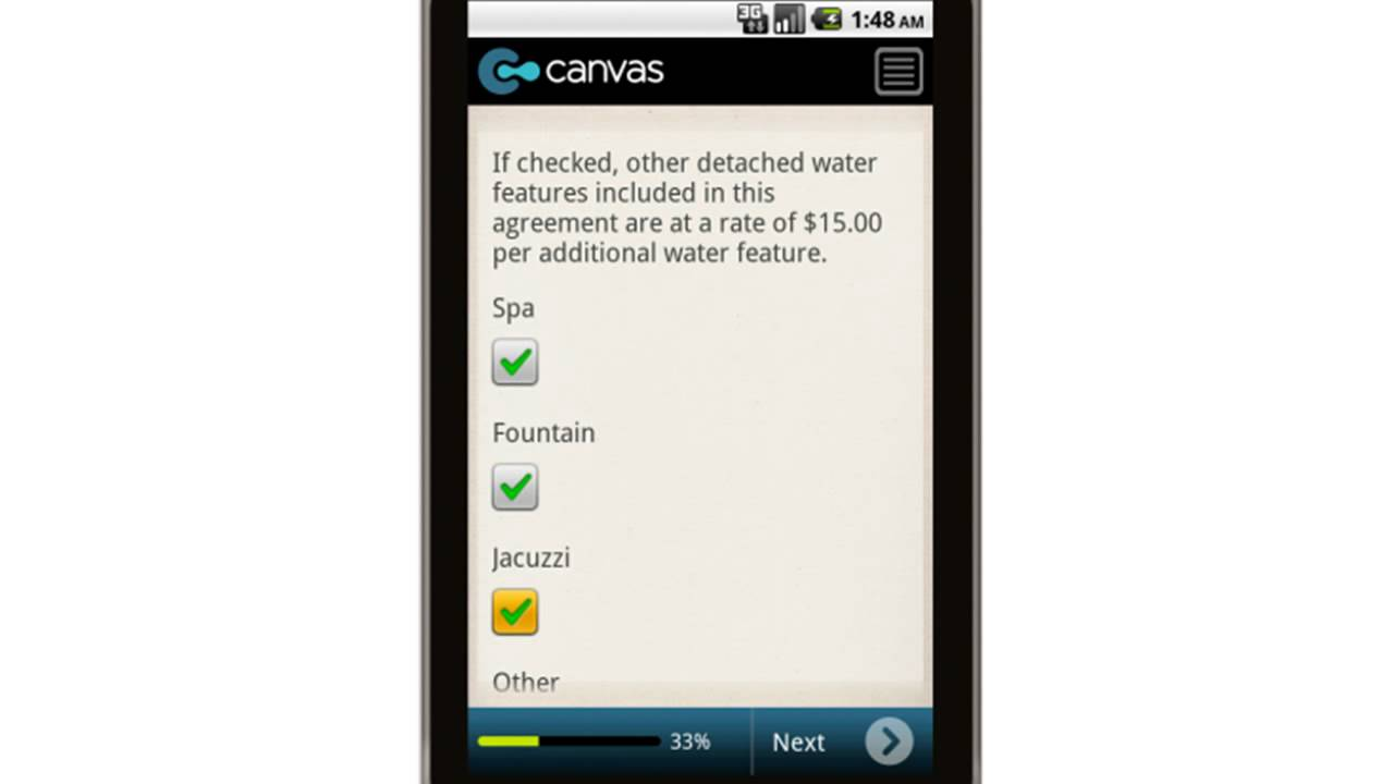 Canvas Monthly Swimming Pool Maintenance Agreement Mobile App Youtube