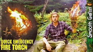 Making A Fire Torch From Spruce - Bushcraft & Survival Tricks