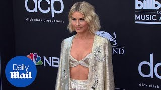 Shimmering in silver! Julianne Hough arrives at Billboards