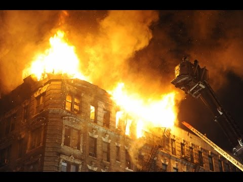 New York fire LIVE rescue operation