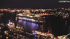 HAFENGEBURTSTAG HAMBURG - MSC Magnifica bei Nacht im Hafen