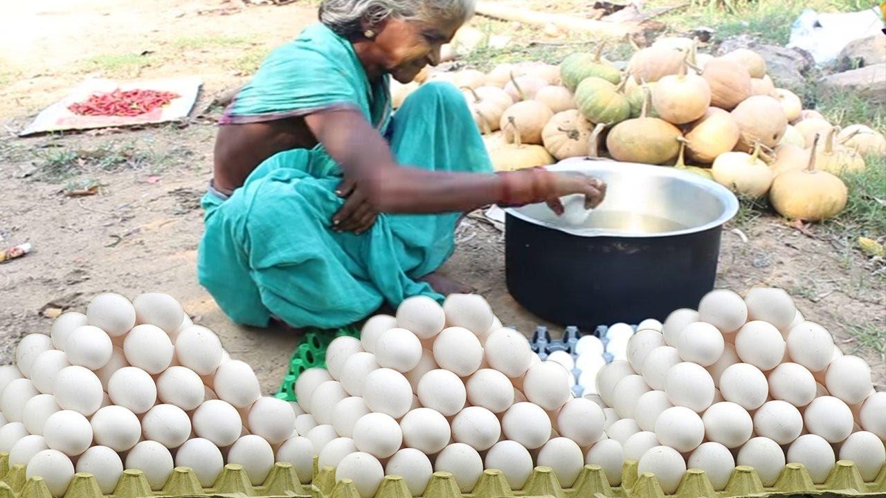 Village foods Cooking Eggs Biryani Recipe By Tribal Grandma. Country ...