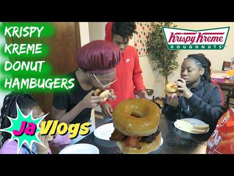 WHAT'S FOR DINNER? KRISPY KREME DONUT HAMBURGERS