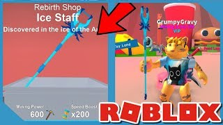 Comprar *NUEVO* Personal de Hielo en Roblox Mining Simulator
