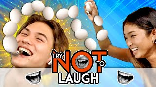 Couples Try Not To Laugh Or Smile While Watching | Don't Break The Egg! (#160)