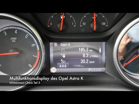 Infotainment Check Multifunktionsdisplay im Opel Astra Sports Tourer