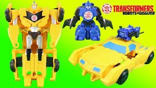 Transformers Combiner Force Bumblebee & Stuntwing Robots in Disguise & Batbot Adventure!