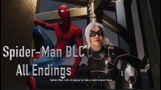 Spider-Man PS4 DLC All Endings 'The Heist'