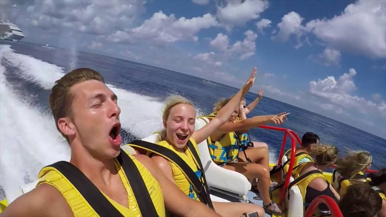 Twister Boat To Isla Pasion In Cozumel With Gopro Youtube