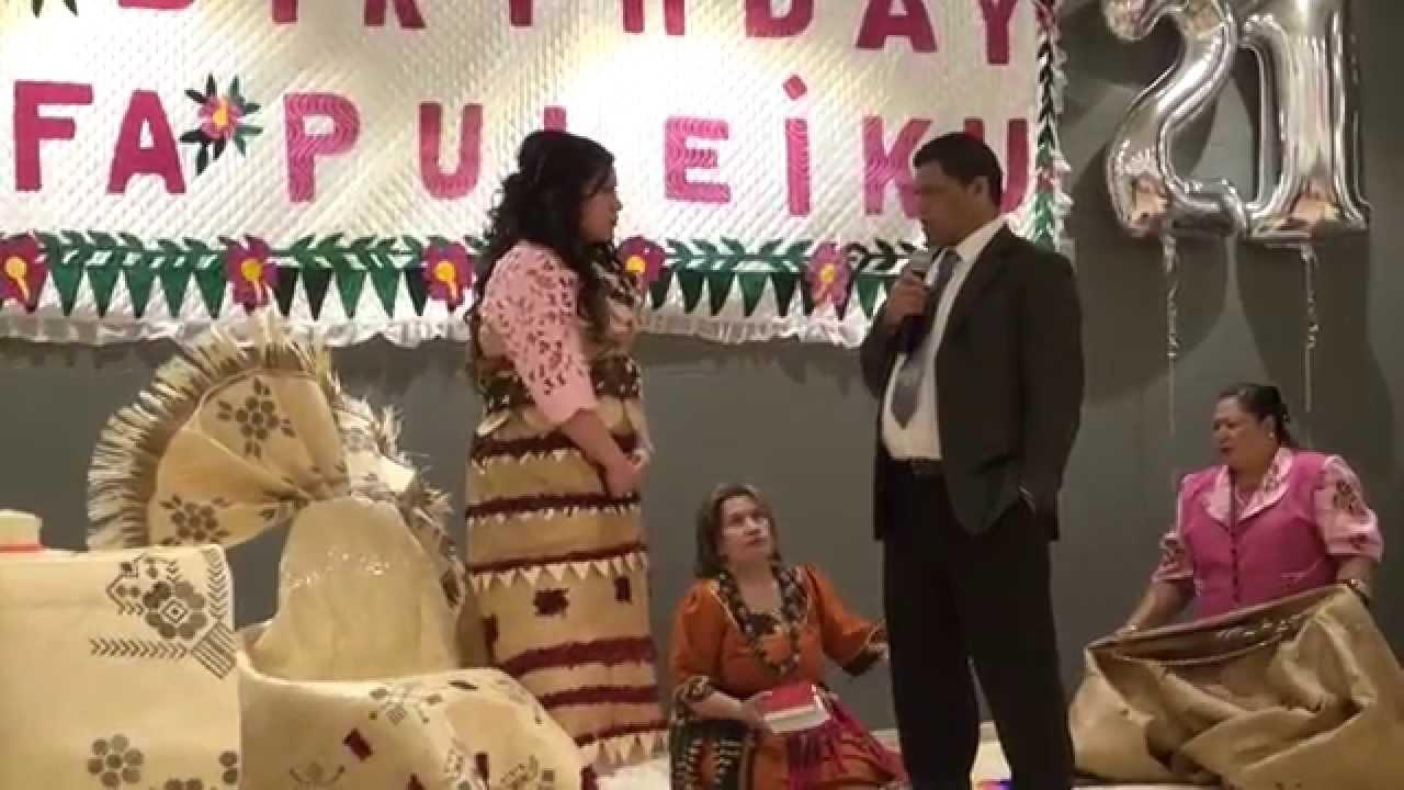 Lute Ofa Puleiku 21st Birthday Key Amp Cake Presentation
