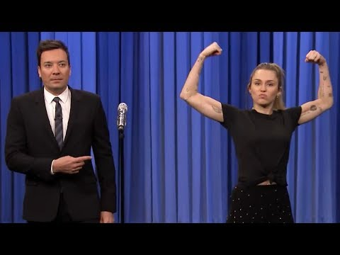 Miley Cyrus OWNS Jimmy Fallon In Lip Sync Battle On Tonight Show