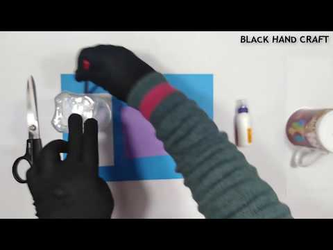 DIY Wall Hanging Paper flower Easy Wall decor Black Hand Craft
