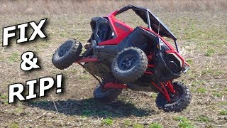 FIXING the ROLLED Polaris RZR Pro XP then 2 wheeling it!!