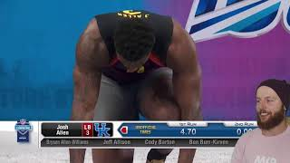 Rugby Player Reacts to The 2019 NFL Combine LINEBACKERS Running The 40 Yard Dash!