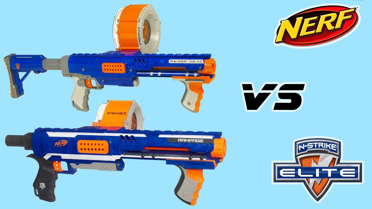 Vergleich Nerf Raider vs Rampage