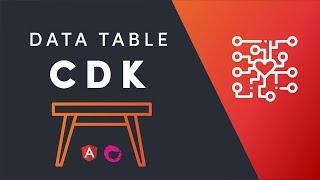 Angular CDK Data Tables