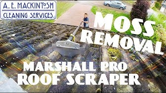 Moss Removal From Roof Tiles Using Marshall Pro Scraper